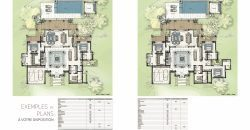 The Villas of 350 M2 to 850 M2 for sale on VEFA