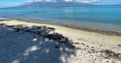 Big Property White sand Beach in Moorea Island French Polynesia